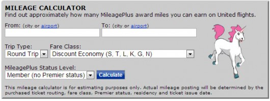 United Mileage Calculator