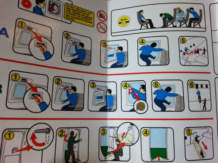 Convair 580 Safety Card